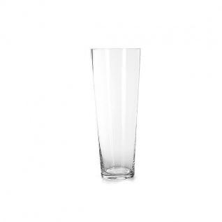 Glasvase Kerzenglas Dekoglas STEINE H 21cm D 17cm Glas klar Jodeco WA