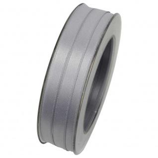 Doppelsatin Stoffband Schleifenband 10mm (1m=0, 20EUR) grau 25m Rolle Goldina