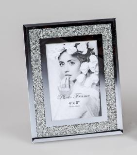 Bilderrahmen, Fotorahmen MIRROR STONES für 10x15cm mit Spiegelglas Formano