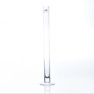 Reagenzglasvase Glasvase SOLIFLEUR mit Fuss H. 40cm Ø 3cm rund klar Sandra Rich