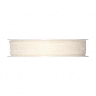 Schleifenband, Dekoband Organza 5mm, creme weiß, 50m Rolle (1m=0, 08 EUR) Halbach