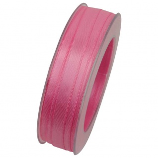 Doppelsatin Stoffband Schleifenband 10mm (1m=0, 20EUR) rosa 25m Rolle Goldina