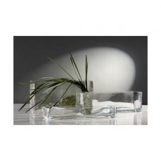 Glasschale Dekoschale Jardiniere Rectangular 40x12cm H 18cm Eckig Sandra Rich