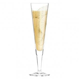 Ritzenhoff CHAMPUS Champagnerglas Golden Fans Fächer by L. Kühnertová 2020