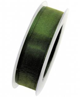 Organzaband formstablie Kante 25mm dunkelgrün 20m Rolle (1m=0, 40EUR) Goldina