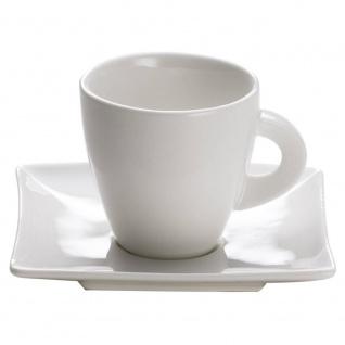 Espressotasse mit Untertasse EAST MEETS WEST für 80ml weiß Maxwell & Williams