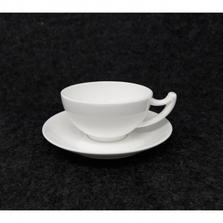 Tasse mit Untertasse Epsilon 180ml weiß Porzellan TeaLogic