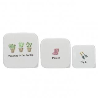 3er SET Brotdosen, Lunchboxen BULB & BLOOM mit Gartenmotiv Creative Tops WA