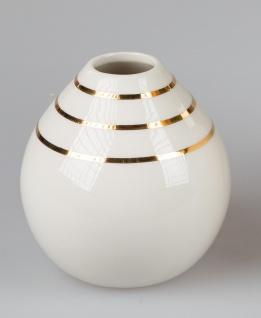 Deko Vase GOLDLINE H. 14cm creme weiß gold Keramik Formano