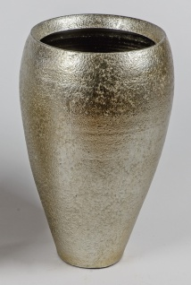 Deko Bodenvase ANTIK konisch rund H. 50cm antik gold Keramik Formano W19