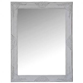 Spiegel mit Rahmen aus Holz, weiß, Shabby Chic, 82x68x7cm