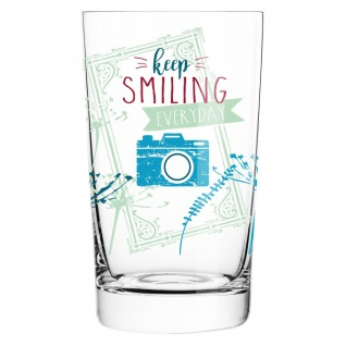 Ritzenhoff EVERYDAY DARLING Softdrinkglas KEEP SMILING by Claudia Schultes 2017