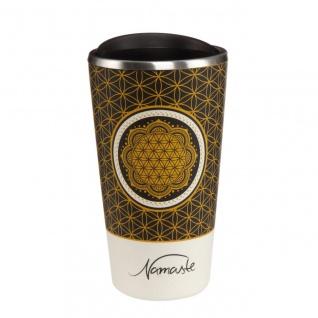 Lotus Kaffeebecher to go Blume des Lebens Bambus Kombi, H. 16cm 500ml Goebel
