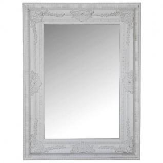 Spiegel mit Rahmen aus Holz, weiß, Shabby Chic 80x60x3cm
