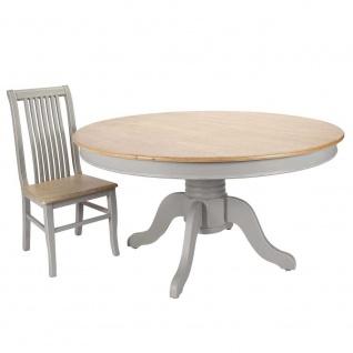 Tisch Esstisch RESIDENZ rund Antikgrau Holz 150x74cm Ambiente Haus