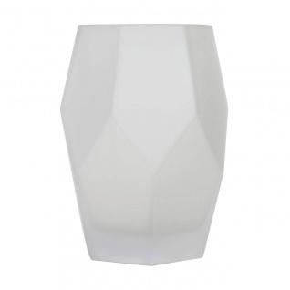 Vase JOOLZ Glas, Mattweiß, Ø 15cm H 20cm, Rudolph Keramik
