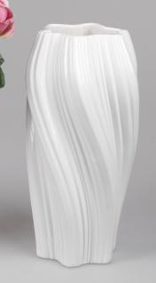 Deko Vase SPIRALE H. 38cm weiß Keramik Formano