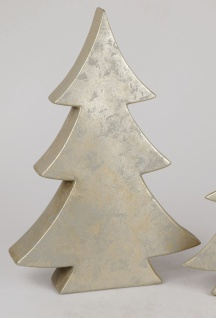Dekoobjekt TREE Baum RUSTIK H. 55cm champagner gold Keramik Formano W19