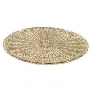 Dekoteller, Glasplatte COLET M gold D. 24, 5cm H. 1, 3cm Decostar WA