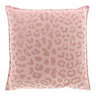 Kissen mit Füllung NALA LEO Muster 45x45cm old pink altrosa Unique Living