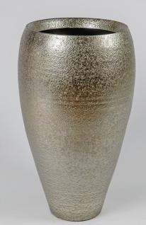Deko Bodenvase ANTIK konisch rund H. 60cm antik gold Keramik Formano W19
