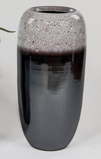 Deko Bodenvase BLACK SNOW H. 65cm schwarz grau braun Keramik Formano