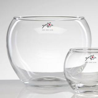6er SET Kugelvasen, Teelichthalter KUGEL Glas Höhe 13cm D. 15cm Sandra Rich