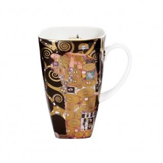Gustav Klimt Becher, Tasse DIE ERFÜLLUNG H. 14cm 450ml Goebel Porzellan