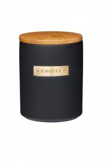 Kaffeedose MASTER CLASS schwarz für 1000ml mit Holzdeckel KitchenCraft