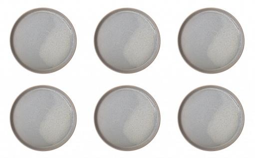 6er Set Kuchenteller, Dessertteller Kendra D. 20cm grau Keramik Bloomingville