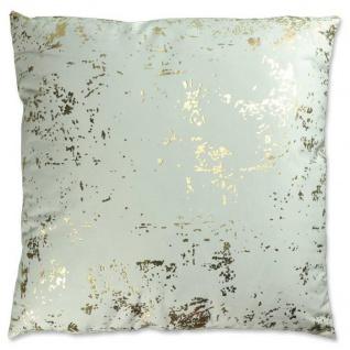 Kissenhülle, Kissenbezug METALLIC 45x45cm grey gold grau LEMETEX