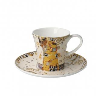Gustav Klimt Tasse mit Untertasse konisch Die Erfüllung 250ml Goebel Porzellan