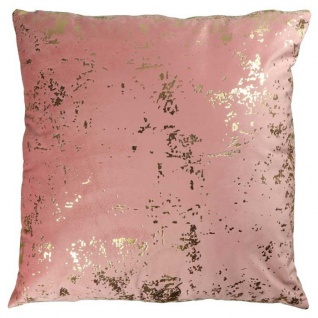 Kissenhülle, Kissenbezug METALLIC 45x45cm ash rose rosa gold LEMETEX