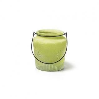 Dekoglas Windlicht Laterne Kerzenglas LILA Glas Ø 14cm H.20cm Decostar WA