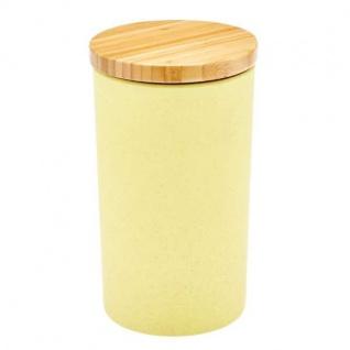 Vorratsdose, Vorratsbehälter gelb Bambus H. 19, 5cm 1300ml Magu NATUR DESIGN WA