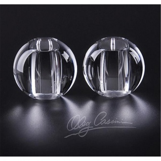 5cm rund Paul Nagel 2er Set JACKIE Salz /& Pfefferstreuer aus Kristallglas H