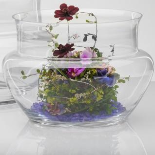 Blumenvase Dekoglas Windlicht WIDE Schale H 20cm D. 30cm Glas rund Sandra Rich