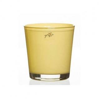 Glas Orchideentopf Blumentopf ORCHID vanilla gelb H. 13, 5cm D.12, 5cm Sandra Rich