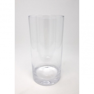 Teelichthalter Dekoglas Vase ZYLINDER H. 20cm Ø 10cm Glas klar Rudolph Keramik