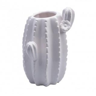 Deko Vase CACTUS in Kaktusform H. 18, 5cm D. 10, 5cm weiß Keramik Hendriks Deco WA