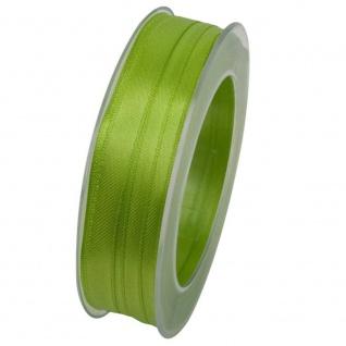 Doppelsatin Stoffband Schleifenband 10mm (1m=0, 20EUR) hellgrün 25m Rolle Goldina