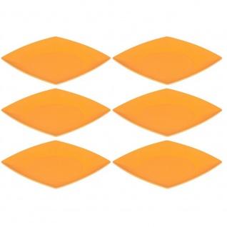 6er SET Speiseteller, Platten quadratisch orange 26x26cm Magu NATUR DESIGN
