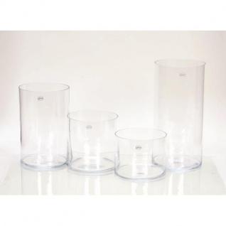 Dekoglas Vase ZYLINDER H. 15cm Ø 19cm Glas klar rund Rudolph Keramik - Vorschau 2