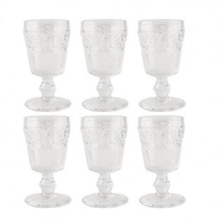 6er Set Kelchgläser Katie Alice VINTAGE INDIGO für 275ml klar Glas KitchenCraft