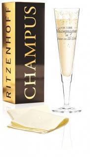 Ritzenhoff CHAMPUS Champagnerglas mit Stoffserviette by Natalia Yablunovska 2019