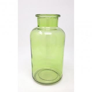 Flaschenvase, Deko Vase BOTTLE H. 20cm D. 10, 5cm hellgrün Glas Sandra Rich WA