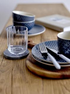 Kuchenteller, Dessertteller Naomi 2 D. 20cm blau weiß Keramik Bloomingville WA - Vorschau 3