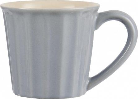 Tasse, Becher MYNTE French Grey grau für 250ml Steingut Ib Laursen