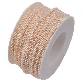 Kordelband, Atlaskordel, Seil gedreht 3mm creme 25m Rolle (1m=0, 20EUR) Goldina