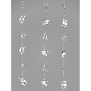 3er SET Deko Hänger Girlanden L. 100cm silber Metall + Acryl Formano W19